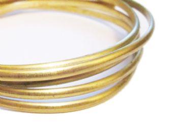 Brass Half Round Beading - per foot